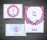 Huwelijkskaart Stock Foto's