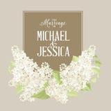 Huwelijkskaart Stock Fotografie