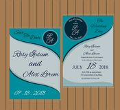 Huwelijkskaart of banner met tekstmalplaatje Royalty-vrije Stock Fotografie