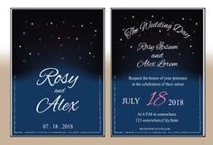 Huwelijkskaart of banner met tekstmalplaatje Royalty-vrije Stock Foto's