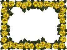Huwelijkskader van bloemen royalty-vrije illustratie