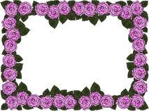 Huwelijkskader van bloemen vector illustratie