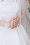 Huwelijkskleding, trouwringen royalty-vrije stock foto
