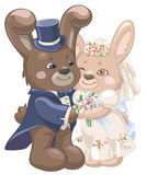 Huwelijkskonijnen Stock Foto's