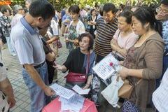 Huwelijksmarkt in Shanghai, China royalty-vrije stock foto's