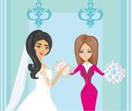 Huwelijksontwerper en bruid Royalty-vrije Stock Foto