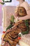 Huwelijksoptocht op het gebied van Java Indonesia Royalty-vrije Stock Afbeelding