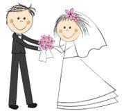 Huwelijkspaar stock illustratie