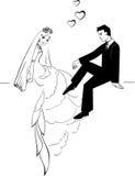 Huwelijkspaar 02 Vector Illustratie