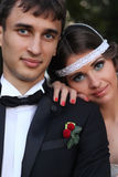 Huwelijkspaar in aard Royalty-vrije Stock Foto's