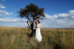 Huwelijkspaar het lachen Stock Afbeeldingen