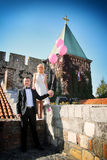 Huwelijkspaar het stellen Royalty-vrije Stock Afbeeldingen