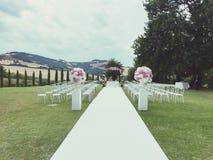 Huwelijksplaats op het gras Stock Afbeelding