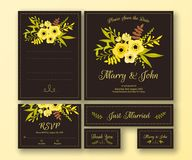 Huwelijksreeks diverse kaarten Royalty-vrije Stock Fotografie