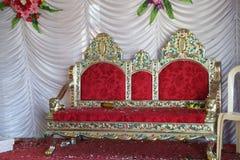 Huwelijksstadium met stoel Royalty-vrije Stock Afbeelding