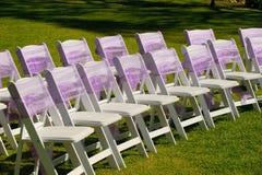 Huwelijksstoelen royalty-vrije stock afbeelding