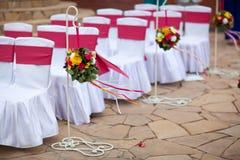 Huwelijksstoelen stock afbeelding