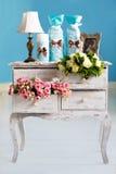 Huwelijkstoebehoren voor de ochtend, de bruid in roze. Wijnoogst Royalty-vrije Stock Foto's