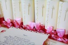 Huwelijksuitnodiging Stock Foto