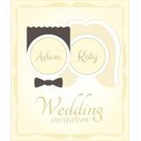 Huwelijksuitnodiging Royalty-vrije Stock Foto