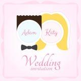 Huwelijksuitnodiging Royalty-vrije Stock Fotografie