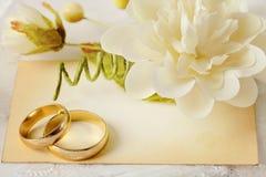 Huwelijksuitnodiging stock foto's