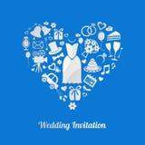 Huwelijksuitnodiging Stock Afbeelding