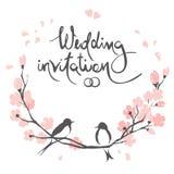 Huwelijksuitnodiging, crad vector illustratie