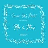 Huwelijksuitnodiging in een kader van takken stock illustratie