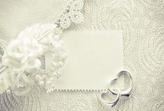 Huwelijksuitnodiging, het concept van de valentijnskaartdag, zwart-wit kaart Stock Afbeelding