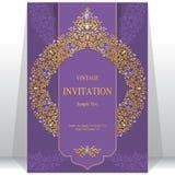 Huwelijksuitnodiging of kaart met abstracte achtergrond Royalty-vrije Stock Fotografie