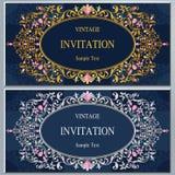 Huwelijksuitnodiging of kaart met abstracte achtergrond Stock Afbeeldingen
