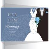 Huwelijksuitnodiging of kaart met abstracte achtergrond Stock Foto