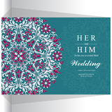 Huwelijksuitnodiging of kaart met abstracte achtergrond Stock Afbeelding