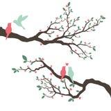 Huwelijksuitnodiging met liefdevogel stock illustratie