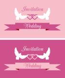 Huwelijksuitnodigingen Royalty-vrije Stock Foto
