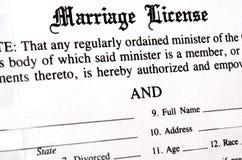 Huwelijksvergunning Stock Afbeeldingen