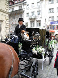 Huwelijksvervoer in Lucern, Zwitserland Stock Foto