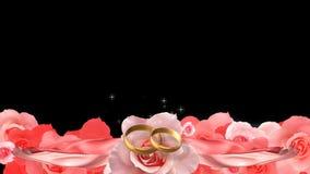 Huwelijksvideoframe stock illustratie