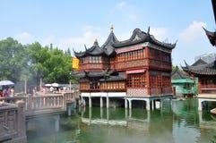 Huxinting茶馆, Yu庭院,上海 免版税库存照片