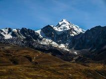 Huyana Potosi. Well known peak (6088 m) near La Paz (Bolivia Royalty Free Stock Images