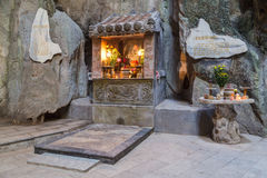 Huyen Khong Cave with shrines, Marble mountains,  Vietnam Stock Photo