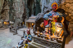Huyen Khong Cave with shrines, Marble mountains,  Vietnam Royalty Free Stock Photography