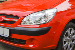 Huyndai getz front headlight Royalty Free Stock Photography