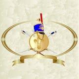 Huzaarhoofddeksel, schild en zwaard-2 Royalty-vrije Stock Fotografie