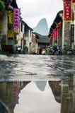 HUZHOU, CHINA - 3 DE MAYO DE 2017: Huang Yao Ancient Town en Zhaoping Imagen de archivo