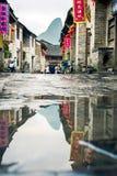 HUZHOU, CINA - 3 MAGGIO 2017: Huang Yao Ancient Town in Zhaoping Fotografie Stock