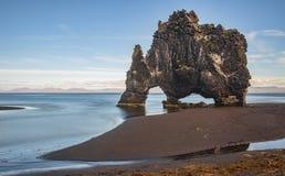 HvÃtserkur Island Royaltyfri Fotografi