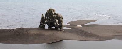 hvÃtserkur, Północny Iceland zdjęcia stock