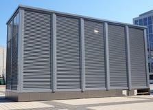 HVAC当热化通风的空调 AC加热器 工业空调和通风系统 免版税库存照片